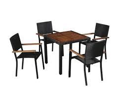 vidaxl 5 piece outdoor dining set poly