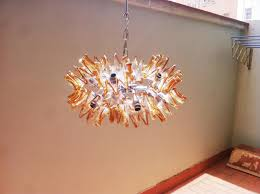 glass flower murano chandelier mid century sputnik flower chandelier in murano glass from mazzega