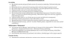 Resume Resume Examples Objective For Customer Service Resume