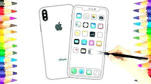 Iphone Coloring Pages Coloring Pages Iphone X Coloring Sheets