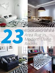 10 Gorgeous Rooms How To Decorate With Black U0026 White Geometric RugsBlack Living Room Rugs