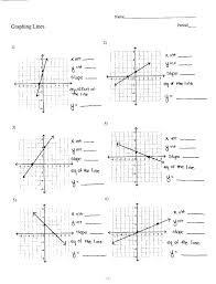 worksheet worksheets for linear equations slope intercept form worksheet luxury graphing with answer key changing