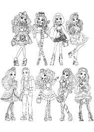 Small Picture Ever After High All Characters Coloring Pages Download Print