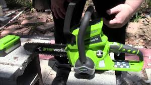 the green works review of the greenworks ten inch cordless chainsaw youtube