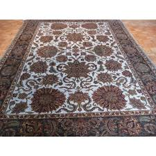 9 x 12 hand knotted light blue agra design oriental rug vegetable dyes g286