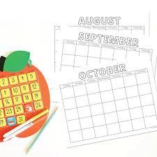 Blank Calendar Pages Printable Instant Download 12 Months Any Year Diy Behavior Calendar Weather Calendar Homeschool Calendar