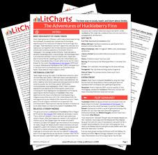 the adventures of huckleberry finn chapter summary analysis  the printed pdf version of the litchart on the adventures of huckleberry finn ""