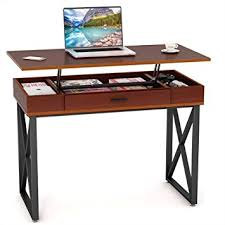 lift top desk. Amazon Com Tribesigns Lift Top Computer Desk Height Adjustable Petite Standing With Storage Briliant 1, Picture Size 355x355 Posted By At June 22, 2018 O