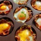 bacon  egg  and cheddar cups  ww