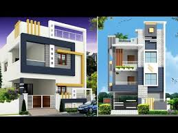 double floor house elevation in india