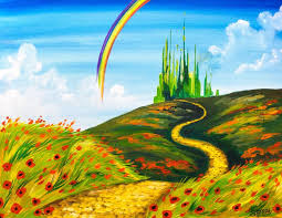 easy acrylic painting tutorial emerald city landscape wizard of oz you fully guided step by step