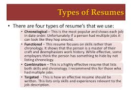 Types Of Resumes Classy Resume Writing Workshop
