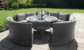 grey rattan dining table. barbuda - round sofa dining table grey rattan garden set including free lazy susan a