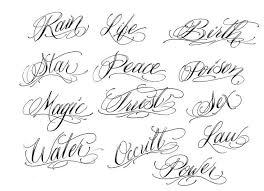 Font Styles For Tattoos Tattoo Font Generator Elaxsir