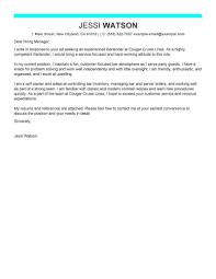 Cover Letter For A Bartender Best Bartender Cover Letter Examples