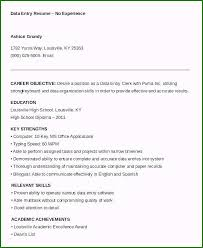 Data Entry Skills Resumes Remarkable Data Entry Resume Sample With No Experience For