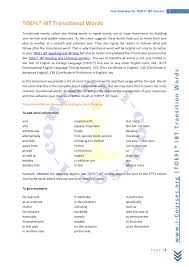 transitions essays transition words for essays toefl i bt transitional words transition