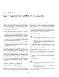 Evaluation Design And Methodology Chapter 5 Safety Assessment Of Design Treatments