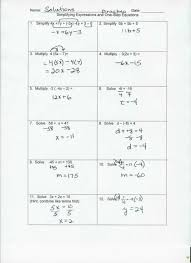 one step equations fractions worksheet the best worksheets image simultaneous w