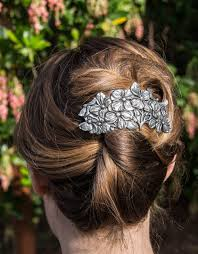 Oberon Design Hair Clips Hair Clip Barrette Dogwood 80mm