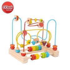 children round beads wooden toys bead maze roller coaster fruit