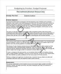 Sample Budget Proposal Simple 48 Recruitment Proposal Examples PDF