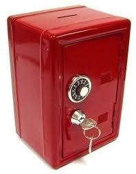 Купить <b>Копилка</b> сейф с ключом красная металл <b>Эврика</b> по низкой ...