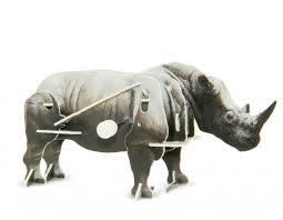 Заводной <b>3D пазл носорог</b>