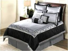lovely ideas black silver comforter sets and set white bedding full getmojito