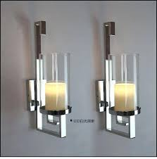 contemporary candle holders decor modern iron sconce black wall sconces holder