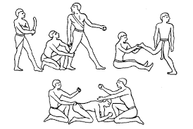 Виды массажа и самомассаж Реферат страница  Изображение приемов массажа на египетском папирусе