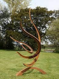 sculpture wisp corten rusted steel