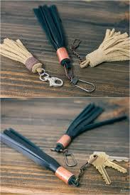 diy leather and yarn tassels diy embroidery floss tassels diy leather tassel keyring