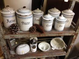 French Canisters Kitchen Antique Kitchen Canisters Farmhouse Vintage Stonegable Paternal