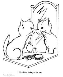 Free Printable Cute Kitten Coloring Page Kindergarten Learning