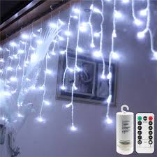 How To Straighten Icicle Lights Echosari 19 7ft 300leds Curtain Window Icicle Fairy Lights String With Remote Battery Powered Timer Dimmable 8 Modes 60drops For Bedroom House Holiday