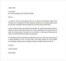 Sample Letter Of Recommendation For High School Student From Teacher Art School Recommendation Letter Sample Resume Examples