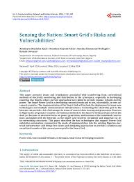 Smart Risks Vulnerabilities Sensing The Grid Nation And Pdf 's AfUqC