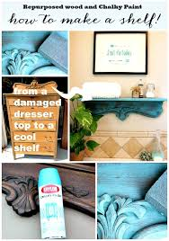 how to make a shelf from repurposed wood repurposed shelf with krylon chalky spray paint
