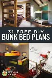 31 DIY Bunk Bed Plans \u0026 Ideas that Will Save a Lot of Bedroom Space