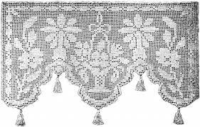 Filet Crochet Patterns Classy Tropical Flowers Lace Curtain Filet Crochet Pattern Claudia