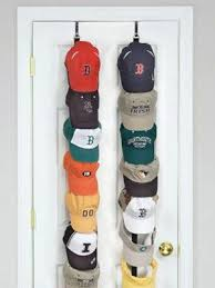 Display your team spirit while keeping your family's baseball hat  collection in order with this handy