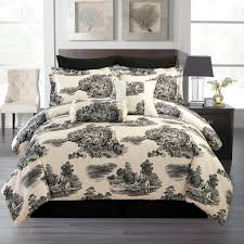 total fab black white cream toile damask comforter blue toile bedding for an eloquent touch