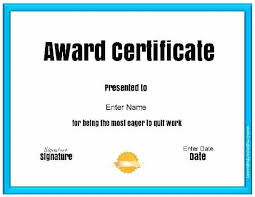Funny Awards At Work To Wonderful Ideas Of Funny Award Certificate Template