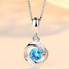 2019 new fashion blue stone pendants elegant crystal rhinestone necklaces pendant for women without chain from isaaco 20 43 dhgate com