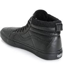 vans vans sk8 hi mte leather skate shoes mens black skate