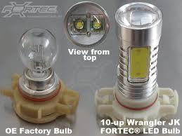 FORTEC FT UP 7G H16W CR 30W FT UP 7G H10W CR 30W High Powered LED Fog Lights for 07 up JK 3