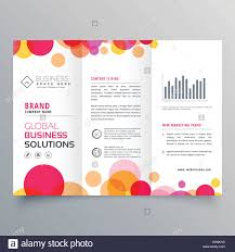 Presentation Trifold Creative Circles Tri Fold Brochure Template Design For Business