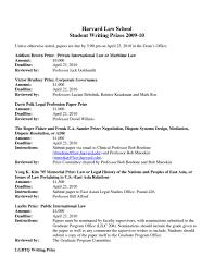 Harvard Law School Resume Resume For Your Job Application