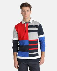 tommy hilfiger men s colour block long sleeve polo shirt tommy hilfiger fashion el corte inglés